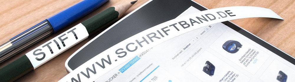 Baner Schriftband.de